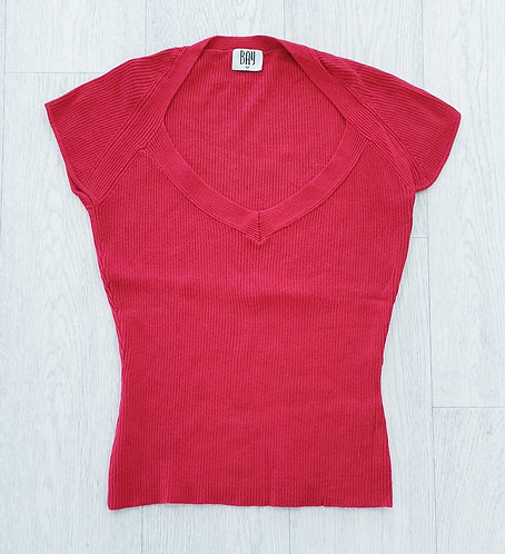 Bay Trading red knit top. Uk 12