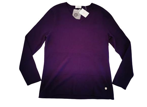 Elegance Paris purple cashmere top. Uk 18 NWT
