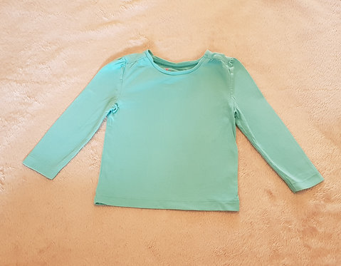 TU Turquoise long sleeve top. 100% cotton 9-12m KEEP AWAY FROM FIR
