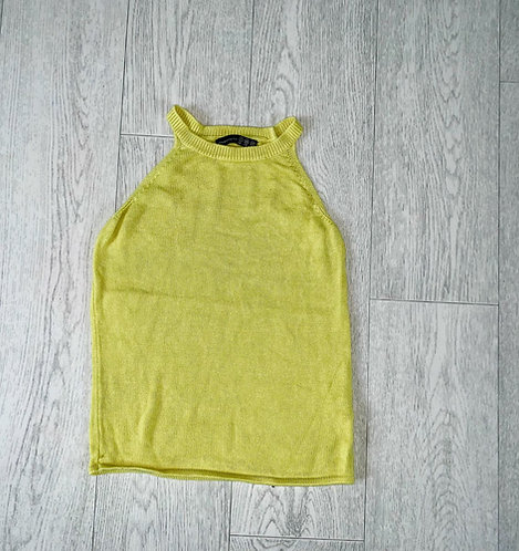 🦊Atmosphere yellow knit top. Size 6