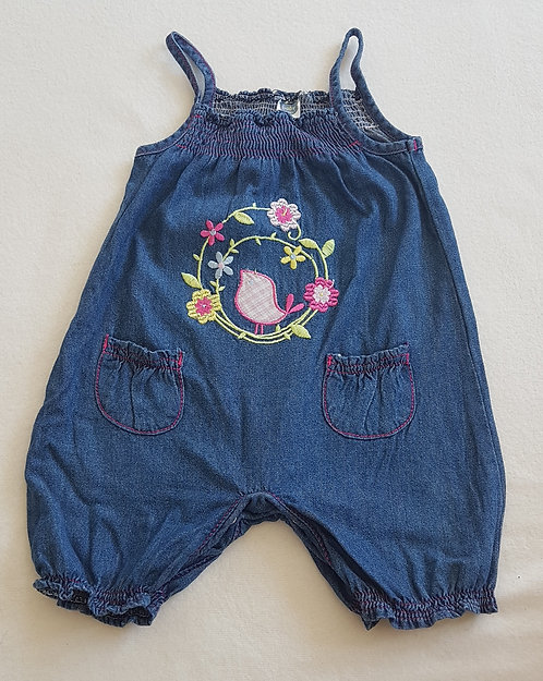 The Baby Company. Denim romper. Age 3-6 months.