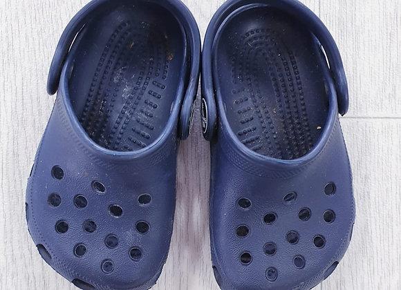 Crocs navy sandals. Infant size 4