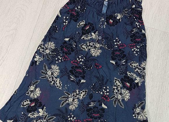 Tu Blue floral top. Size 10
