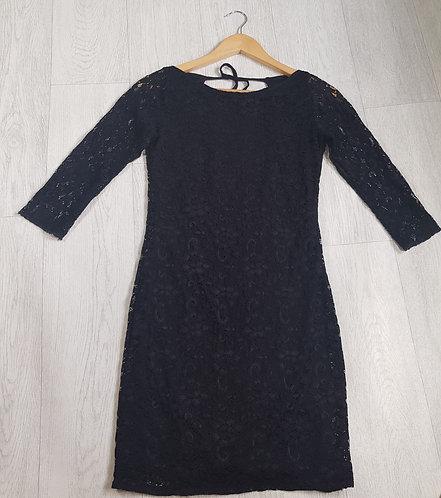 🔷️Black open back lace dress size S/M