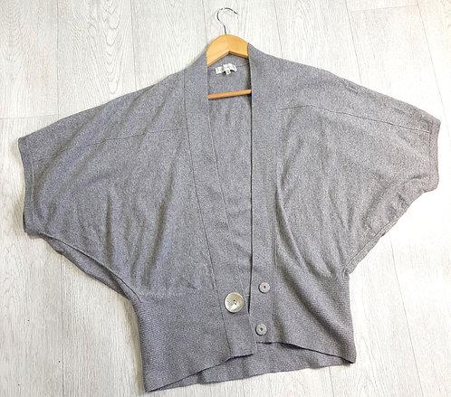 🔷️Rocha John Rocha grey Batwing cardigan with pretty buttons size 10