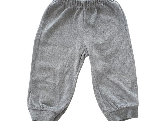 Bennetton Baby grey velour joggers.  3-6m