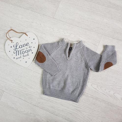Primark grey knit sweater. 9-12m