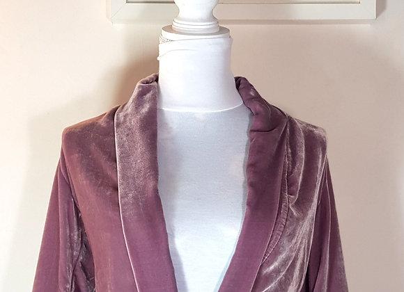 Dusky pink velvet jacket. Size S