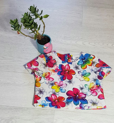 🥀Ladybird floral top. 3-4yrs