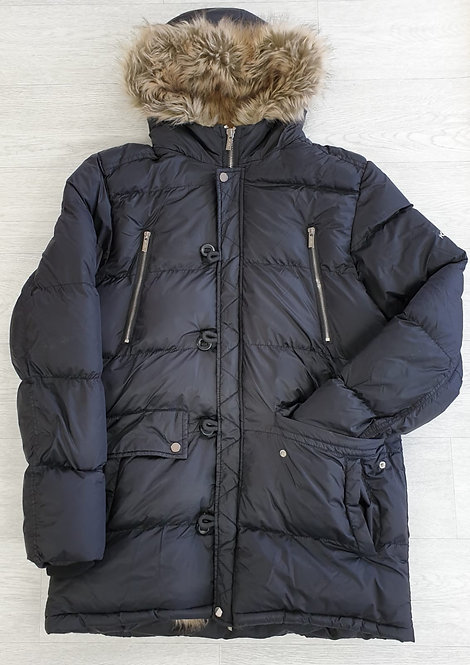 4Bidden thick black quilted coat. Size XL