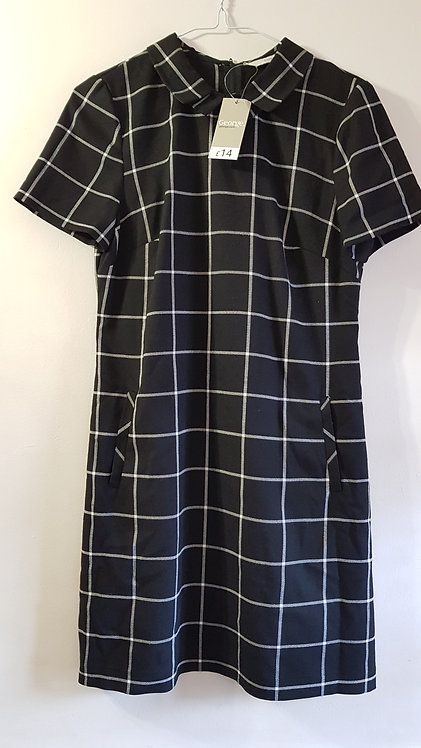 George. Black check dress. Size 10. New with tags.