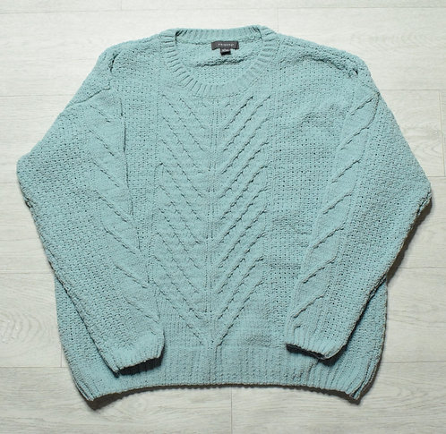 Primark turquoise knit sweater. Size L