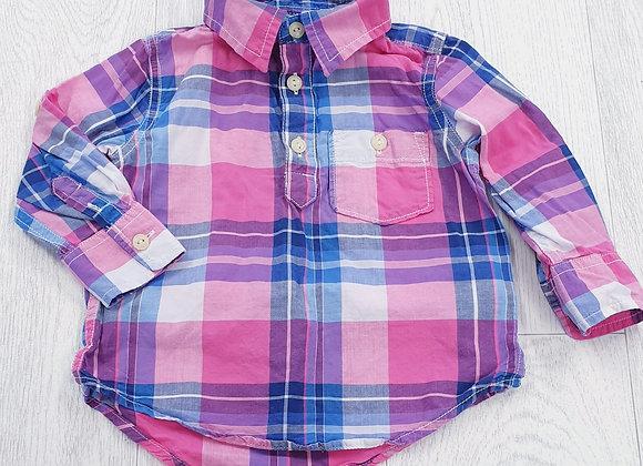Baby Gap pink check shirt. 12-18m