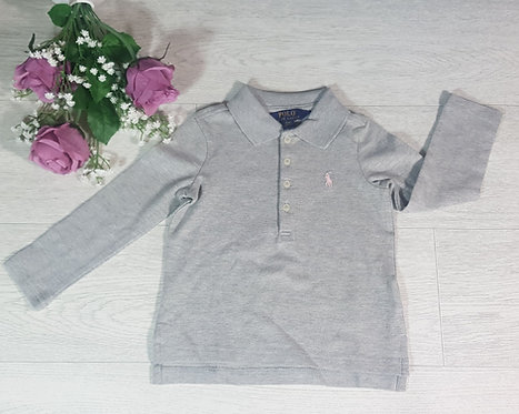 Ralph Lauren grey polo top. 2T