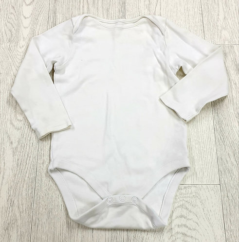 🧸 Next white long sleeve vest. 1½-2yrs