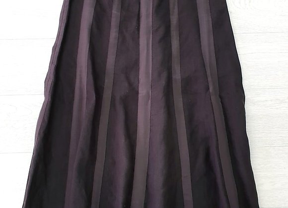 Brown linen long skirt. Suggested size uk 10