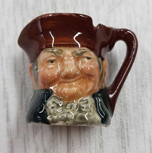 ◾Royal Doulton Antique Miniature Toby Jug 3.5cm high