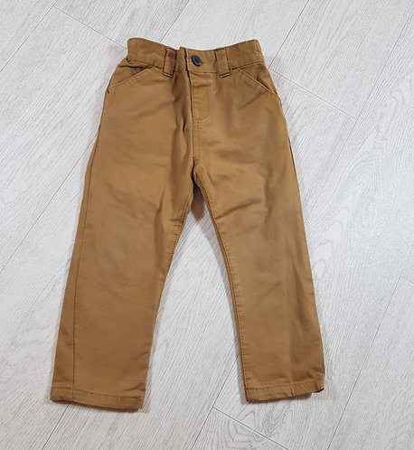 🍂Nutmeg boys beige adjustable waist trousers size 18/24 months