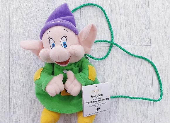 Disney Dopey soft toy bag NWT