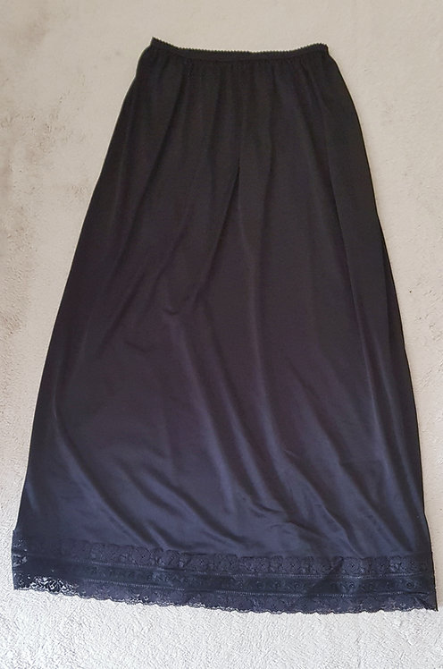 MARKS AND SPENCER ST MICHAEL Black petticoat with lace trim. Size 12-14
