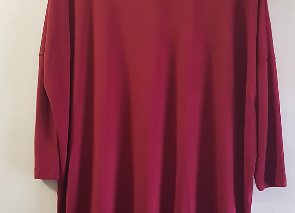 ATMOSPHERE Burgundy long sleeve top. Size 6 KEEP AWAY FROM FIRE