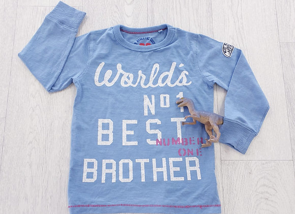 Next blue best brother top. 3-4yrs