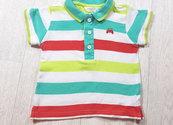 🌈Baby M&Co green white and red car Polo size 9 / 12 months
