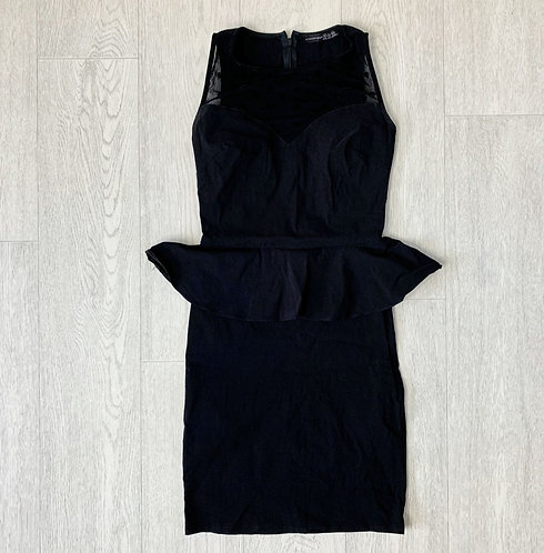 🍃ATMOSPHERE black peplum dress. Size 8