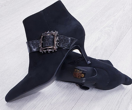 Black buckle ankle boots. Euro 36 NWOT