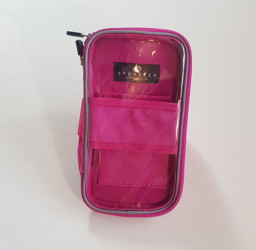 Sporteer pink arm case for mobile phone and ipod etc