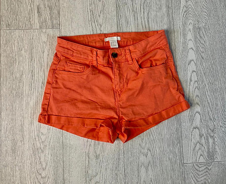 🌞H&M peach denim shorts. Size Euro 32