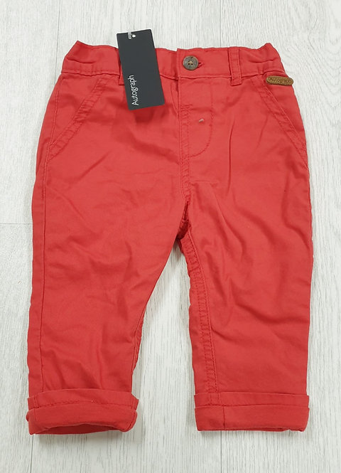 Autograph red jeans. 6-9m NWT