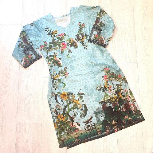 🌸Turquoise ethnic tunic size 10