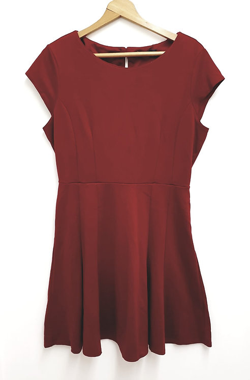 Bhs red wine coloured A-line dress. Size 14