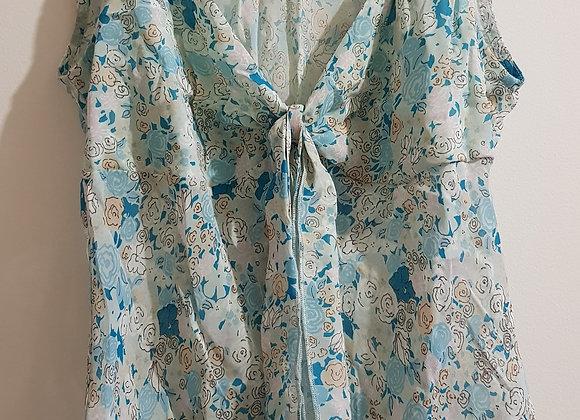 Dorothy Perkins. 100% Viscose lightweight summer blouse. Teal Green. Size 14.