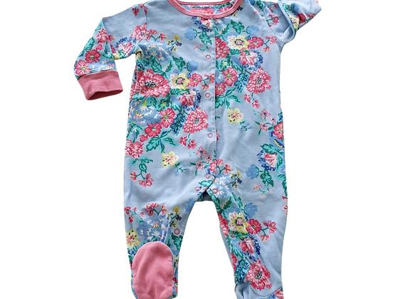 Joules floral sleepsuit. 3-6m