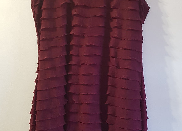 ATMOSPHERE Burgundy dress with ruffles. Size 10