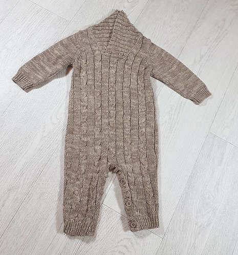 🐠Matalan knitted beige all in one suit size 3-6 months