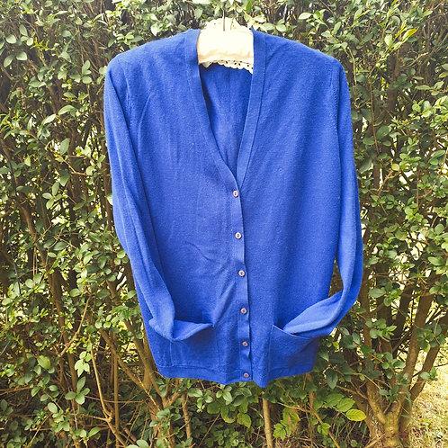 🌼EWM Pure Classics blue wool cardigan. Size M