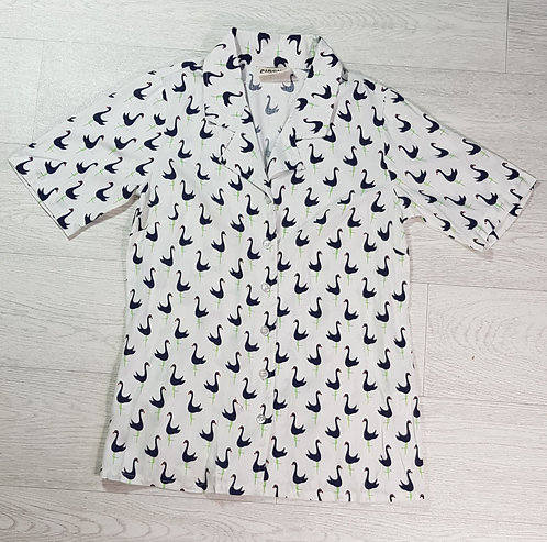 Circus white shirt with birds. Size 12