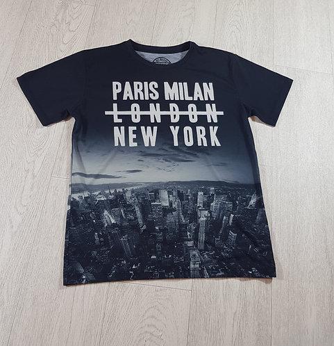 ⚽️Matalan boys black Paris,Milan ... T-shirt size 12 years