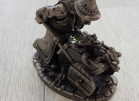 ◾Behave! Pewter wizard ornament by Roger Gibbons