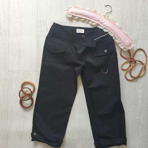 🧡Krisp black cropped trousers. Size 8