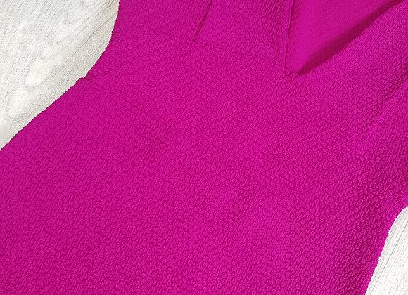 ☀️Boohoo fuchsia textured dress size 12
