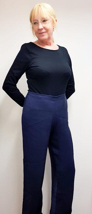 ◽Abraham & Thakore blue wide leg silk trouser. Size M NWT