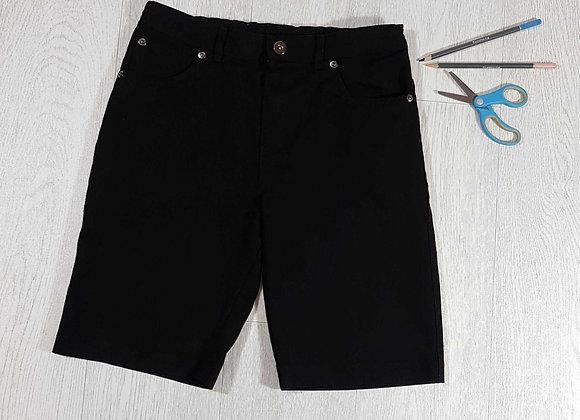 ◾F&F black school shorts. 10-11yrs