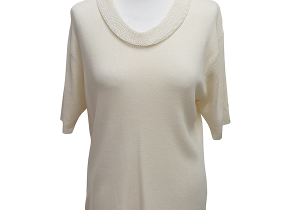 Bellino cream knit top. Uk 16