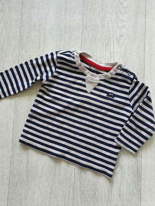 🐺George striped top. 3-6m
