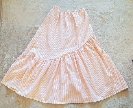 Peach and white stripped petticoat size 10-12