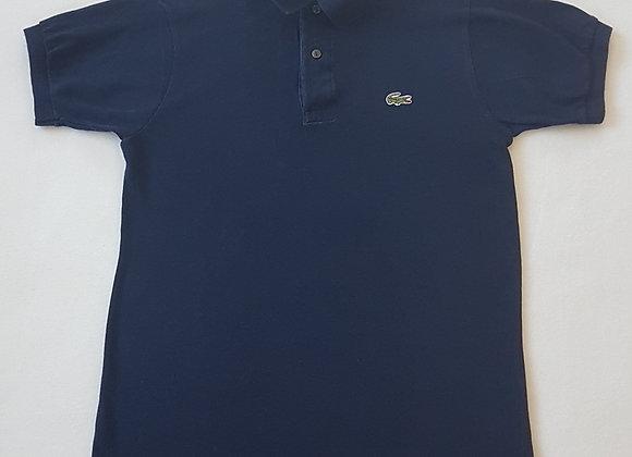CHEMISE LACOSTE. Navy polo shirt. Size 3.